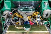 Engine bay of souped up Vauxhall Victor — Stockfoto