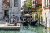 Enjoying the autumn sunshine in Venice — Stock Photo