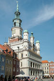 Town Hall Clock Tower in Poznan — Stock Photo
