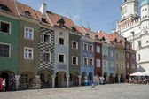 Row of multicoloured houses in Poznan — Stock Photo