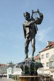 Fountain of Apollo in Poznan — Stock Photo