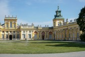 Approach to Wilanow Palace in Warsaw — Stock Photo