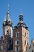 St Marys Basilica in Krakow — Stock Photo