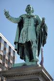 Monument to Jozsef Eotvos in Budapest — Stok fotoğraf