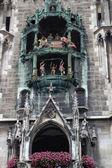 The Rathaus-Glockenspiel in Munich — Stockfoto