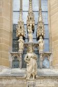 Statue of Christ outside St James Church in Rothenburg — Foto de Stock
