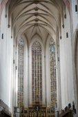 Vista interior do St James Church em Rothenburg — Fotografia Stock