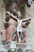 Statue of Christ on the cross in St James Church in Rothenburg — Foto de Stock