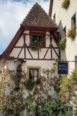 Burg Hotel in Rothenburg — Stock Photo