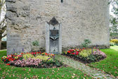 Monument to fallen Jews in Castle gardens at Rothenburg — Stock fotografie
