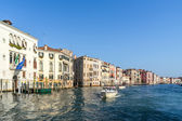Powerboat cruising down the Grand Canal — Stock Photo