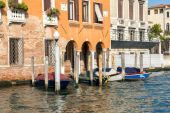 Boats moored in Venice — Foto Stock