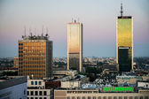 Early morning view over the skyline in Warsaw — ストック写真
