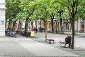 Typical street scene in Weimar — Stock Photo