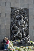 Western side Monument to the 70th Anniversary of the Warsaw Ghet — Stock Photo