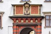 Elaborate archway at Hofburg at Heldenplatz in Vienna — Stock Photo