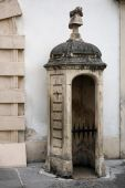 Old sentry box at the Hofburg at Heldenplatz in Vienna — Stock Photo
