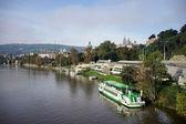 View from the Cechuv Bridge in Prague — Zdjęcie stockowe