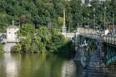 Cechuv Bridge in Prague Czech Republic — Stock Photo