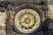 Astronomical clock at the Old Town City Hall in Prague — Stock Photo