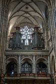 The Organ in St Vitus Cathedral in Prague — Stok fotoğraf