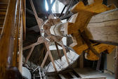 Huge wooden geared hoist in Daniel Tower St George's Church in N — Stock Photo