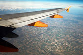 Aerial view of the French countryside from a jet liner — Stock Photo