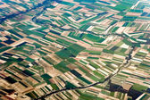 Aerial view of the French countryside — Foto de Stock