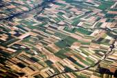 Aerial view of the French countryside — Stock Photo