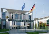The Federal Chancellery building offical residence of the German — Stock Photo