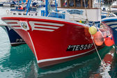 Fishing boats moored in Los Christianos harbour Tenerife — Stock Photo
