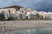 View of Los Christianos beach in Tenerife — Foto Stock