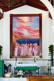 Interior of the Church of the Holy Sprit in Los Gigantes Tenerif — Stock Photo