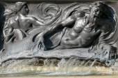 Fountain on Victoria Memorial outside Buckingham Palace London — Stock Photo