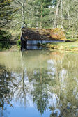 View of the boathouse on the Scotney Castle Estate — Stock Photo