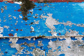 Peeling paintwork on a derelict boat at Dungeness — Stock Photo