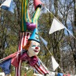 Clown mannequin at a funfair in Cardiff on April 19, 2015 — Stock Photo #71704807
