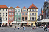 Row of multicoloured houses in Poznan Poland on September 16, 20 — Stock Photo