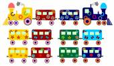 Children's train — Vector de stock