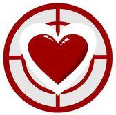 Herz im ziel — Stockvektor