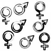 Sign men and women — Stock Vector