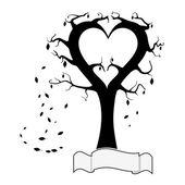 дерево сердец — Cтоковый вектор