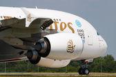A380 Emirates — Stock Photo