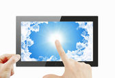 Black generic tablet pc — Stock Photo