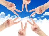 Handen van teamwerk — Stockfoto