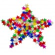 Big star composed of many colored stars — Stock Photo #55414147