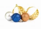 Four spheres on a white background — Fotografia Stock