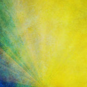Yellow and green Sunbeams Background — Stock Photo