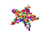 Many colored stars on white — Stock Photo