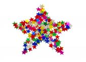 Big star composed of many colored stars — Stock Photo